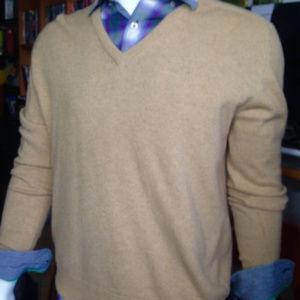 PRINGLE 100% wool beige V-neck sweater sz48